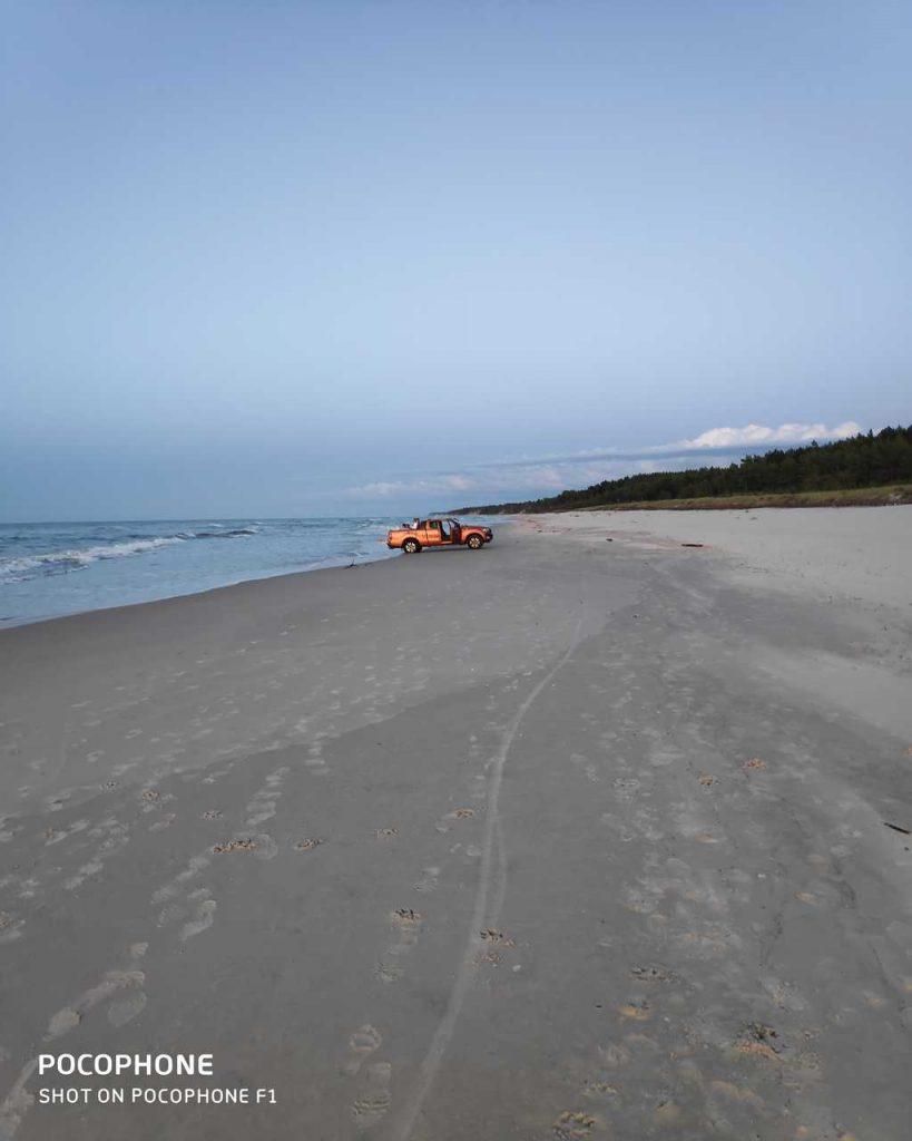 Plaża samochód